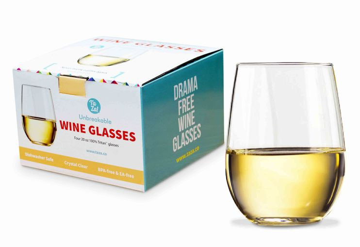 20 oz stemless unbreakable glass holiday gift for her