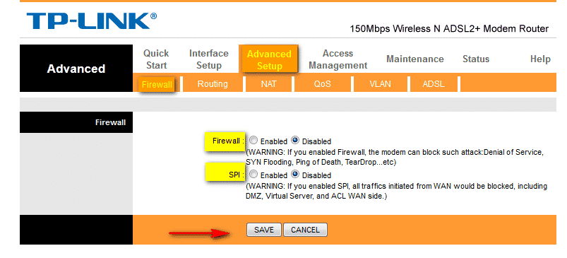 How to make Huawei HG520b Router ping-able 1