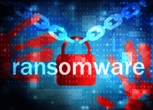 "graphic with the word ""ransomware"""