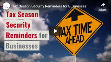 Thumbnail of video on tax season security reminders.