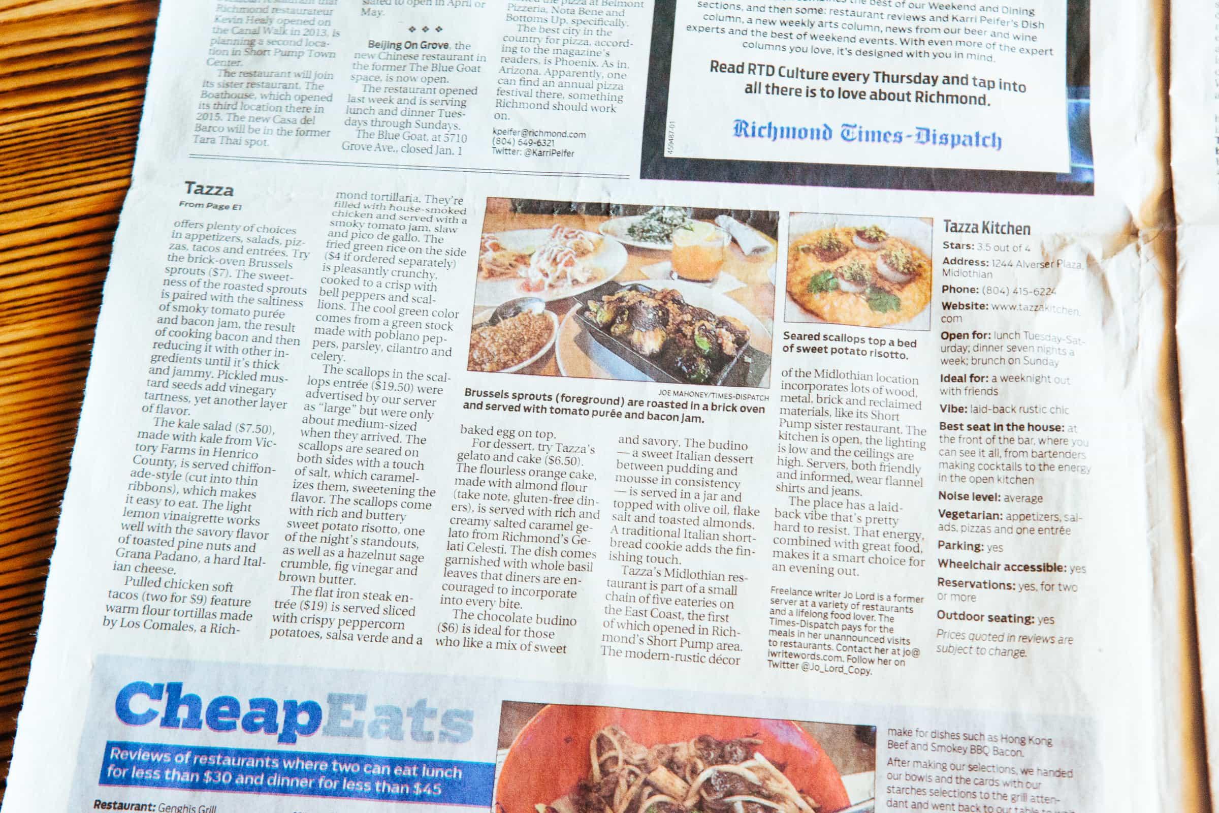 Richmond Times-Dispatch / Restaurant review: Internationally