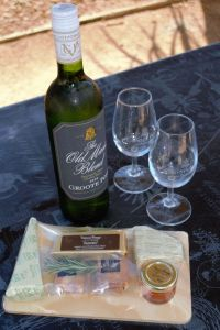 cheese and wine at Groote Post