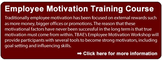Employee Motivation Training Course