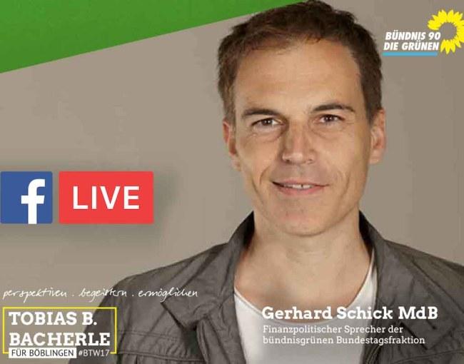 FB Live mit Gerhard Schick MdB