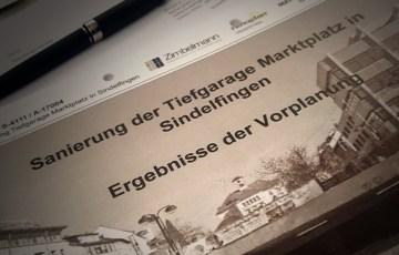 Anträge zum Tiefgaragenumbau in der Sindelfinger Innenstadt
