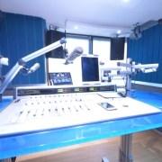 Custom Audio Console with Clear Blue Plexiglass