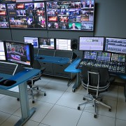 Integrated IntelliTrac + SmartTrac Control Room with custom audio console