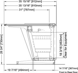 CTL Series Base Frame with Bottom Shelf
