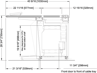 E Series Base Frame with Optional Bottom Shelf
