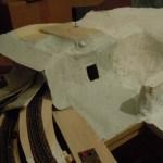Erste Gipsarbeiten an der Rukollamühle