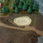 Arbeiten am Waldweiher am Ramberg