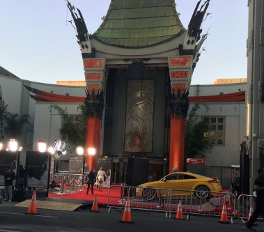 The Chinese Theater rolled out the red carpet in preparation for a star-studded, and important evening for our work.