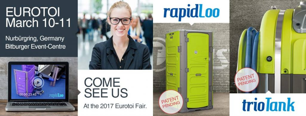 T Blustar Innovative Mobile Restrooms Exhibits at the 2017 EUROTOI