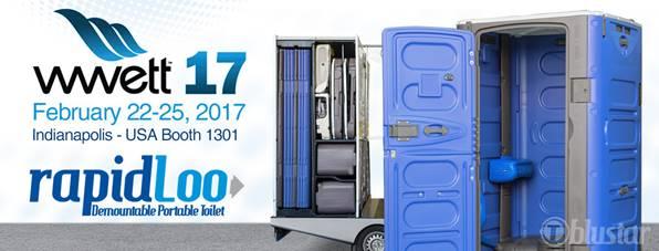 WWETT Show 2017 RapidLoo Portable Toilets