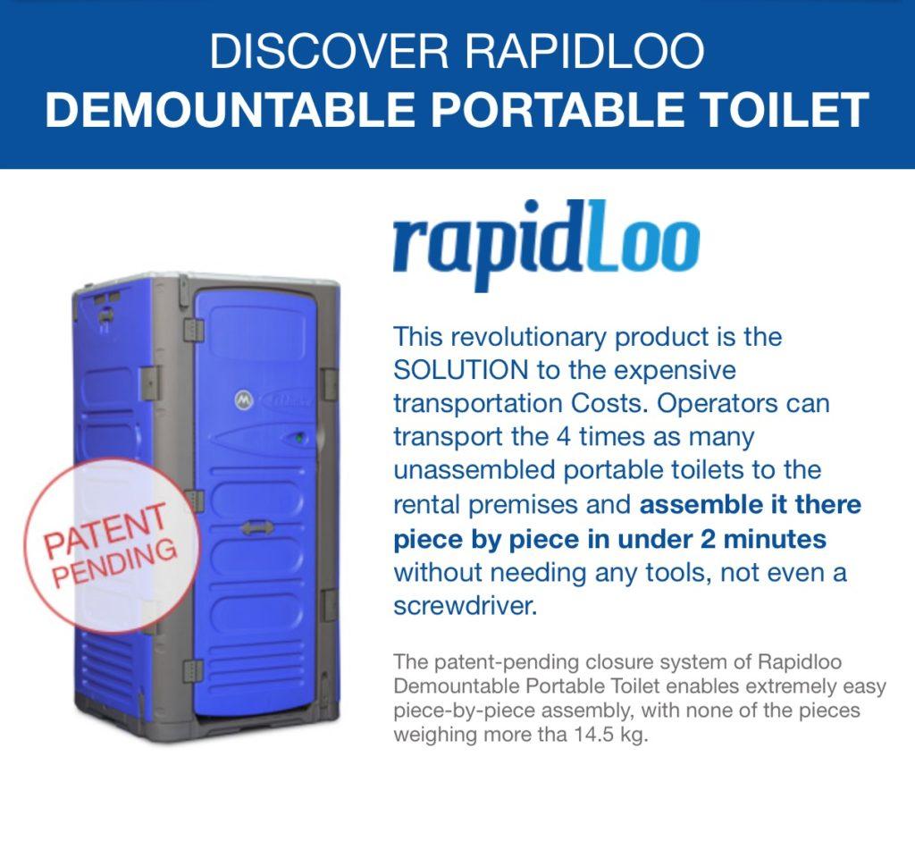 RapidLoo Modular Portable Toilet