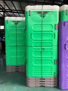 Green Rapidloo demountable portable toilet
