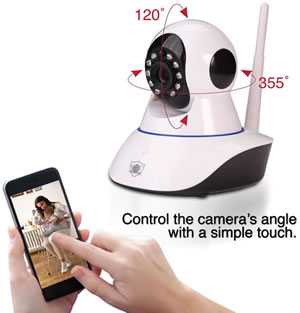 Smart Phone Controllable Ip Camera
