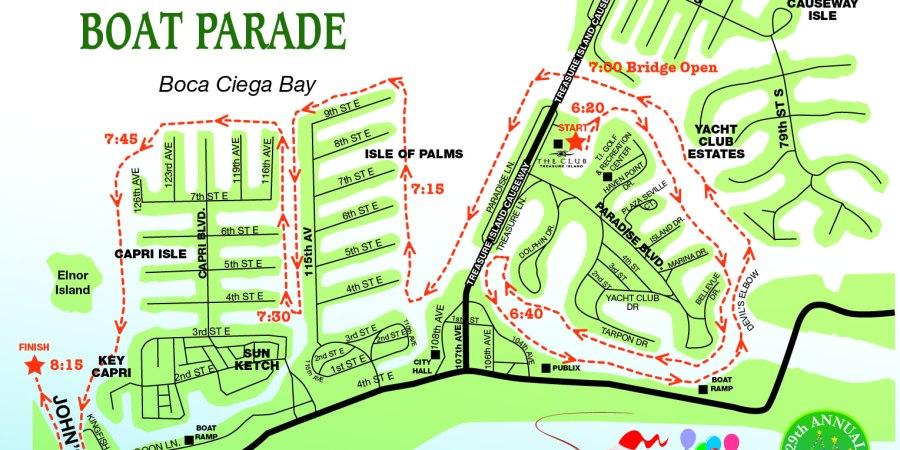 Treasure Island | Boat Parade Map | Boat Parade