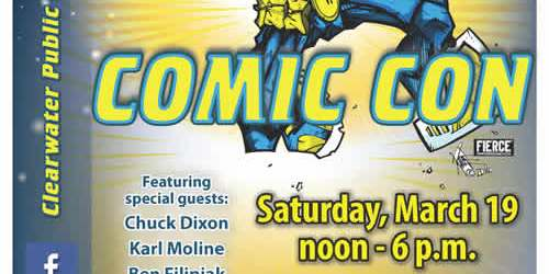 Comic Con | Clearwater Library | Comic Con Flier