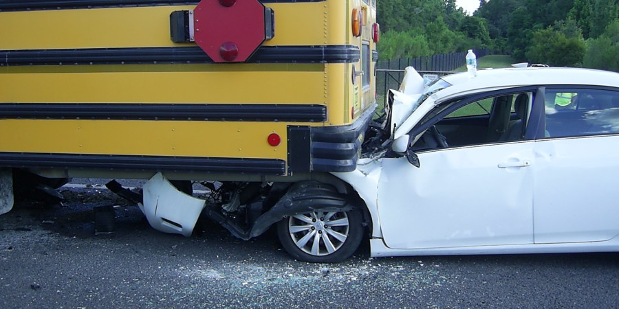Hernando School Bus | Hernando Crash | Bus Rear Ended