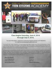 Sign Up Now for Pinellas Sheriff's Teen Citizens Academy