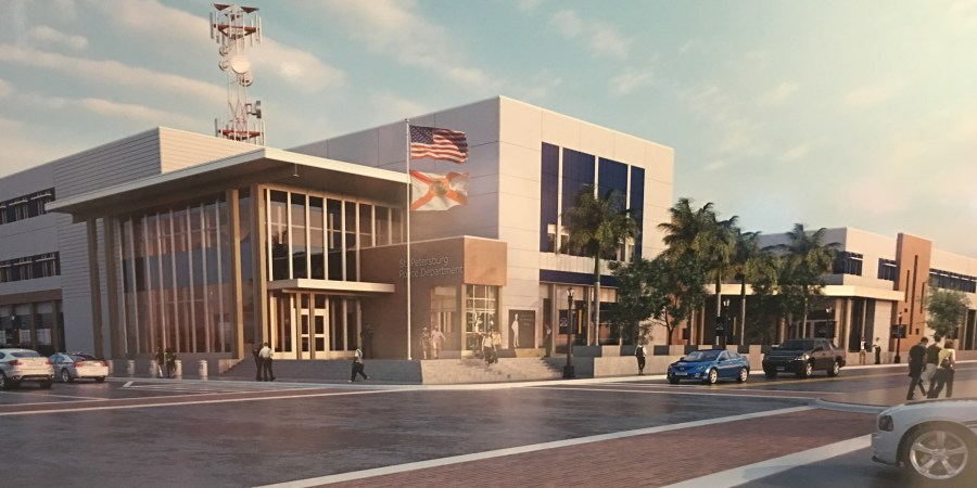 Rendering of new St Pete Police Department