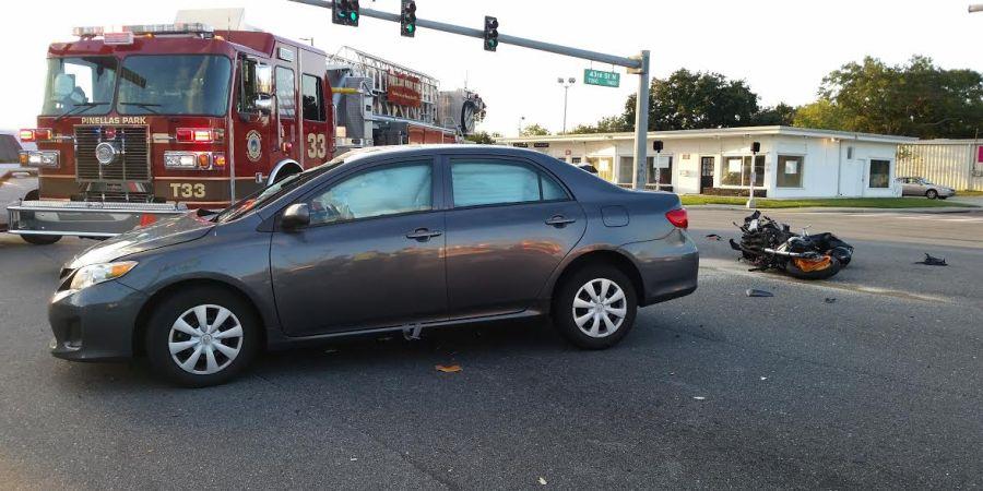 Pinellas Park Police | Motorcycle Crash | Traffic Crash
