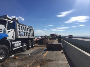 Skyway Crash | Florida Highway Patrol | Dump Truck Overturns