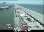 Crash Closes Parts of Southbound Skyway