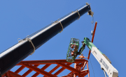 Final Beam Set in Place on Tom and Mary James' 'Gift' to St. Pete