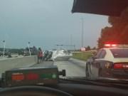 Boat Crashes on I-4 in Hillsborough