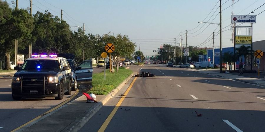 Motorcycle Crash | Florida Highway Patrol | Pinellas School Bus Crash