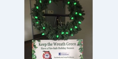 Largo Fire   Safety Campaign   Green Wreath