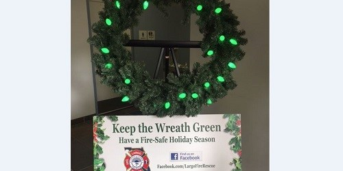 Largo Fire | Safety Campaign | Green Wreath