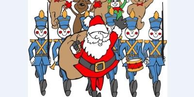 Santa Parade   Holiday   Traffic