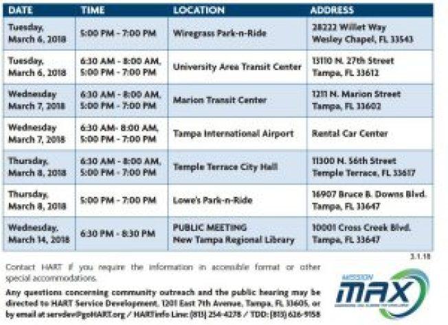 HART CHART | Transportation | Events