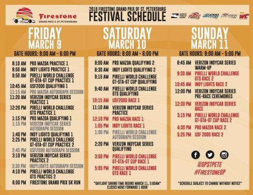 grand prix schedule | St. Petersburg | Sports