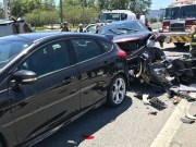 Driver Critical After Seven-Vehicle Pileup on State Road 54