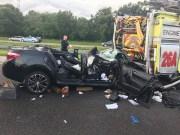 Driver Critical After Rear Ending Hillsborough Fire Truck