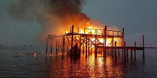 Stilt House | American Flag Stilt Home | Pasco Fire Rescue