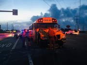Pinellas School Bus Driver Cited after Ulmerton Road Crash