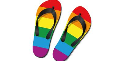 Pride Flipflops | Rainbow | Events Near Me