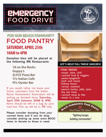 IRB Food Drive | Food Pantry | TB Reporter