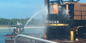 Coast Guard Fire | Egmont Key | Public Safety