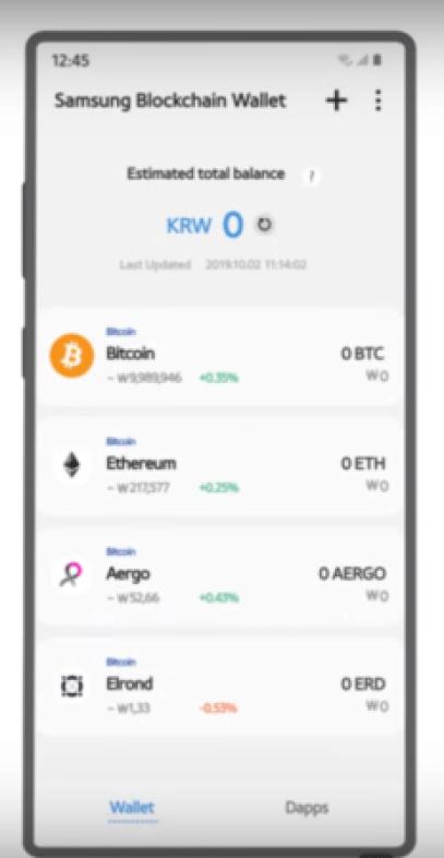Carteira blockchain da Samsung adiciona suporte ao token Elrond
