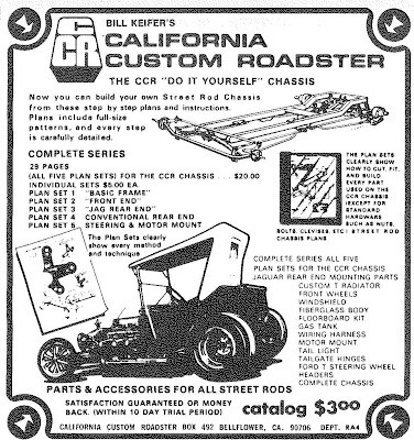 The Famous California Custom Roadster, CCR, T-Bucket Plans