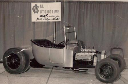 Cal Automotive T-Bucket display at 1961 Oakland Roadster Show