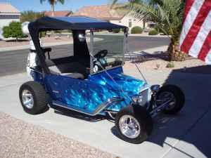 This T-Bucket Electric Golf Cart is the Real Deal on ford raptor golf cart, 56 ford golf cart, ford golf cart body kit, ford th!nk automobile, ford electric air compressor, 40 ford golf cart, 2002 ford golf cart, ford mustang golf cart, 32 ford golf cart, ford custom golf carts, buick golf cart, ford electric scooter, ford motor golf carts, ford golf carts florida, camaro golf cart, 1932 ford golf cart, ford solar golf cart, thunderbird golf cart, new ford truck golf cart, ford golf cart bodies,