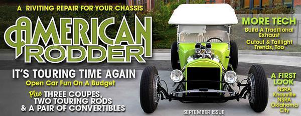 Russ Freund Green Mantis T Touring September 2007 American Rodder magazine