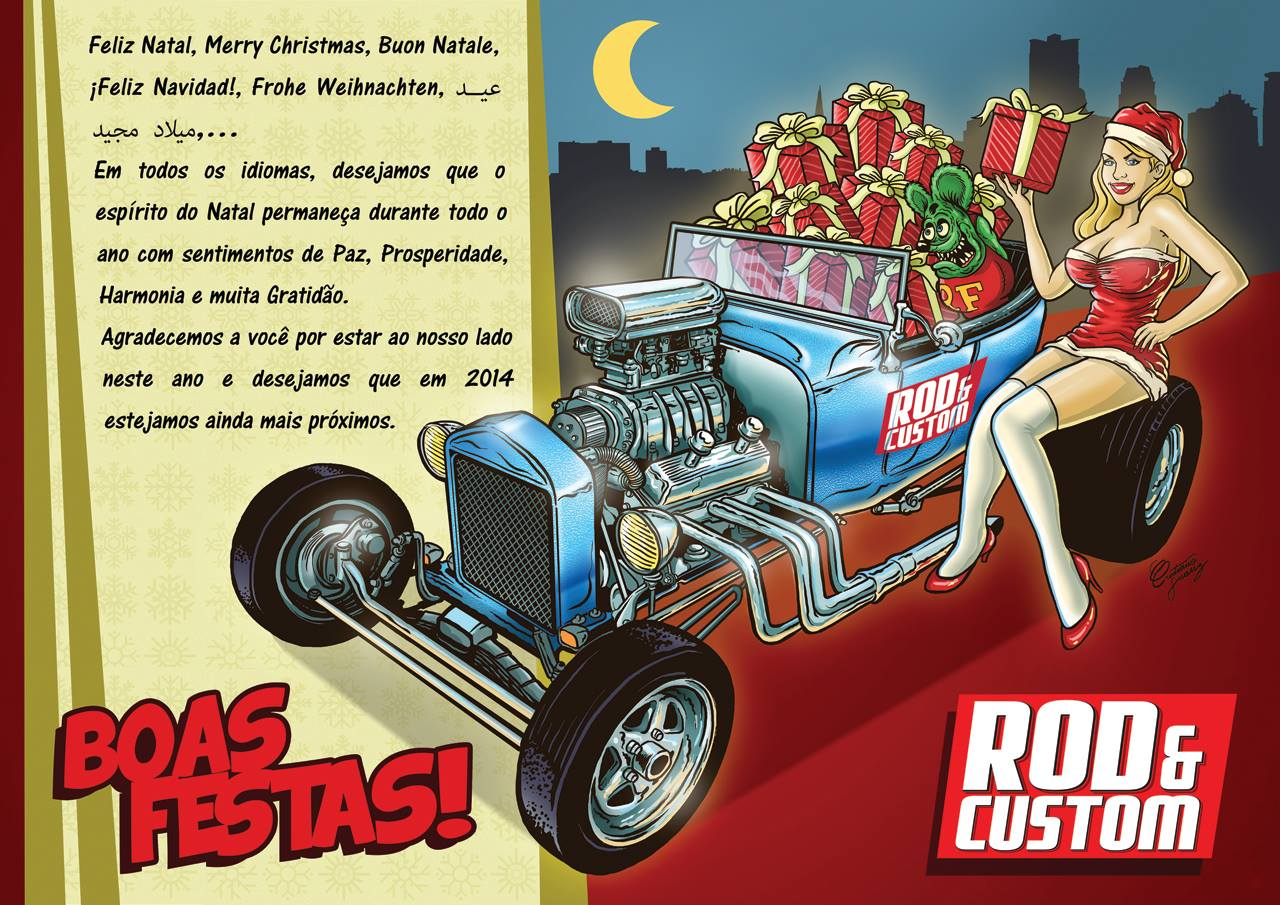 Santa Hot Rod - He Really Delivers All Those Toys in a T-Bucket Roadster
